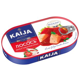 Kaija Филе лосося в томатном креме, 170 г, Жестяная банка
