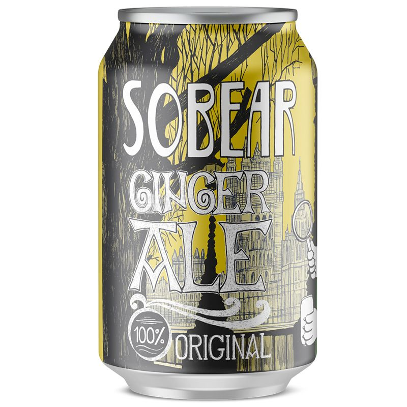 Wild Grass Sobear Ginger Ale, 0.33 L, Packaging 24 pcs.