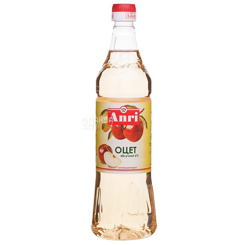 Anri Уксус яблочный, 6 %, 0,85 л, Пластиковая бутылка