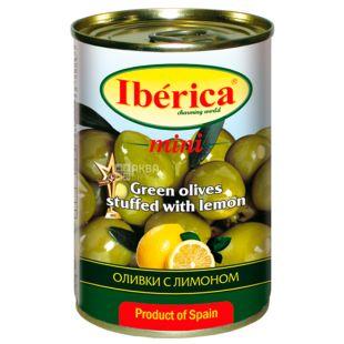Iberica Оливки зелені з лимоном, 300г, ж/б банка, ключ