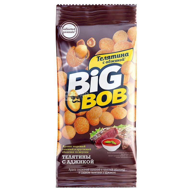 Big Bob Арахис жареный соленый со вкусом телятины с аджикой, 60г