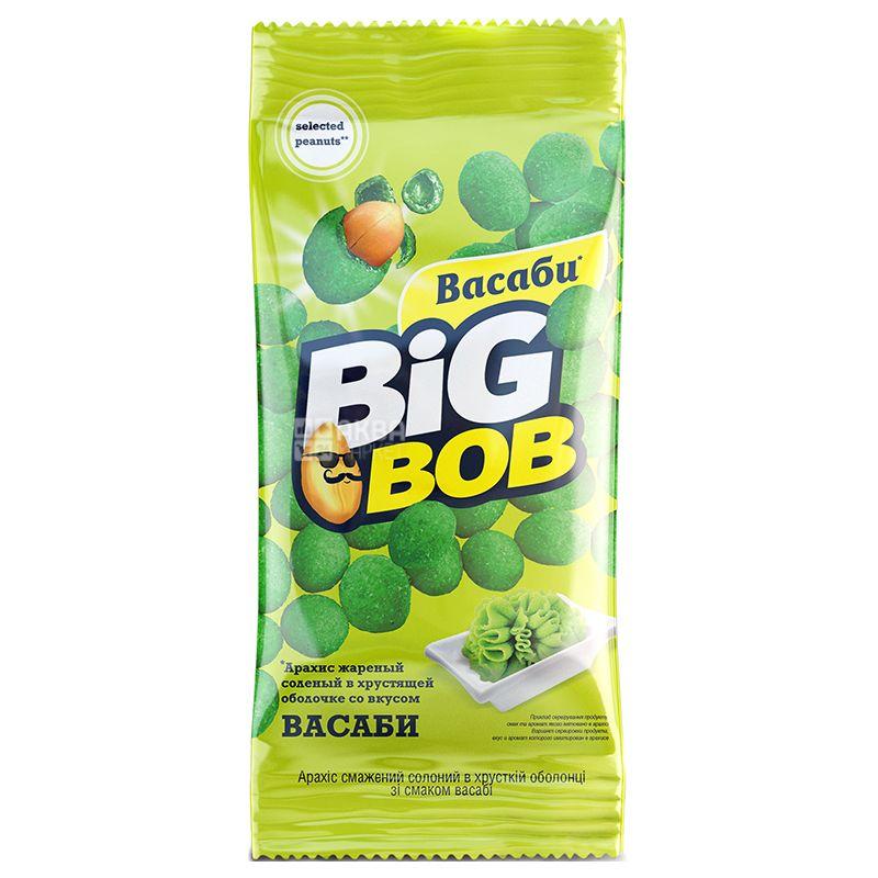 Big Bob Salted roasted peanuts with wasabi flavor, 60g