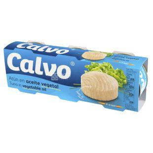 Calvo Тунець у соняшниковій олії, 3х80г, ж/б