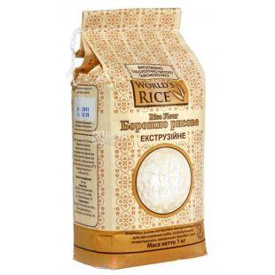 World's Rice, 1 кг, Борошно, Екструзійна, Безглютенова