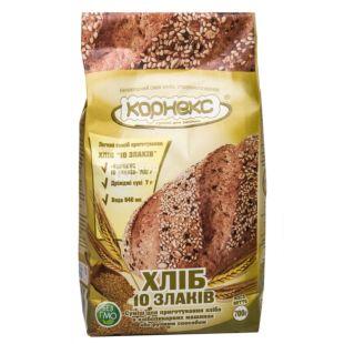 Корнекс, Мучная смесь, 10 злаков, для приготовления хлеба, первый сорт, 0,7 кг