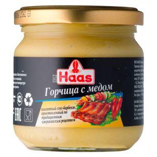 Haas Горчица с медом, 210 г, Стеклянная банка