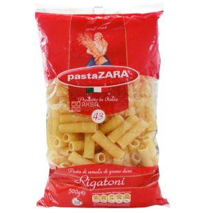 Pasta Zara Rigatoni №43, 500 г, Макароны Трубочки Паста Зара Ригатони