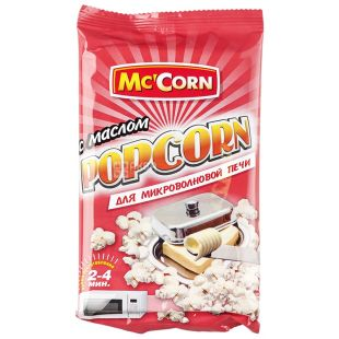 Mc'Corn, Popcorn for the microwave with butter, 90 g, m / s