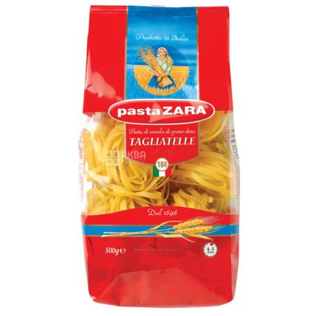 Pasta Zara Tagliatelle №104, 500 г, Макароны Лапша Паста Зара Тальятелле