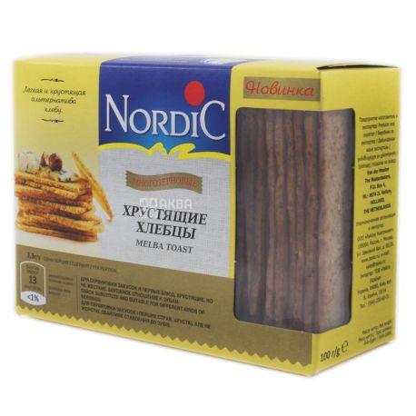 Nordic, 100 г, Хлебцы, Многозерновые