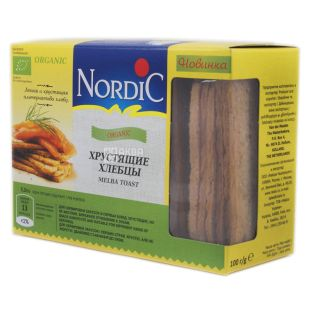 Nordic, 100 г, Хлебцы, Органические