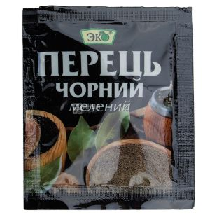 Eco, Ground Black Pepper, 10 g