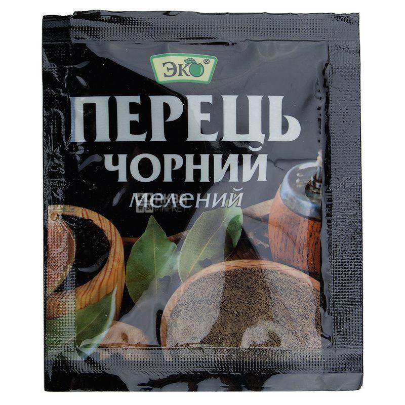 Эко, Перец черный молотый, 10 г