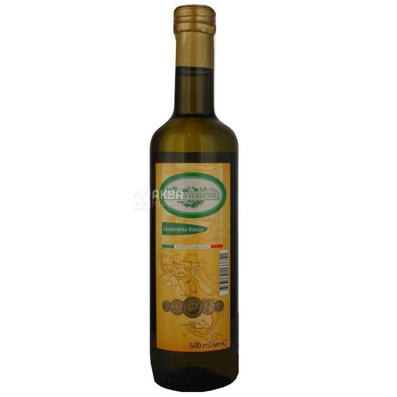 Cascina verdesole, 500 мл, Уксус бальзамический, Condimento Blanco, Белый, стекло