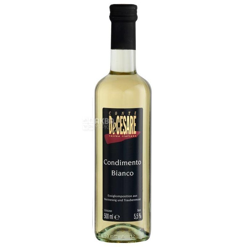 Conte DeCesare, 500 мл, Уксус винный, Balsamico Bianco, стекло
