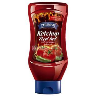 Чумак кетчуп Red Hot, 570 г, пластиковая бутылка