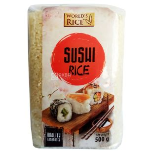World's Rice рис для суши 500 г, пакет