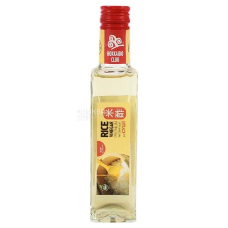 Hokkaido club Уксус рисовый, 200 мл, Стеклянная бутылка