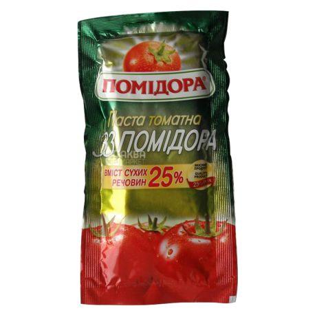 Помидора, Паста томатная 33 помидора, 70 г, Сашет