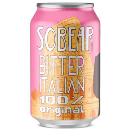 Wild Grass Sobear Bitter Italian, Газированный напиток, 0,33 л, Упаковка 24 шт.