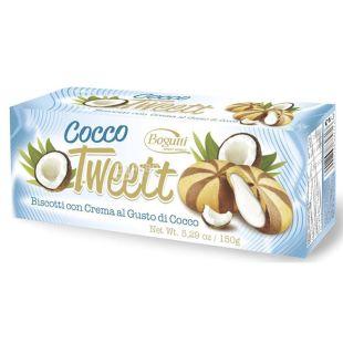 Bogutti, 150 г, Печиво, Tweett, з кремом зі смаком кокосу