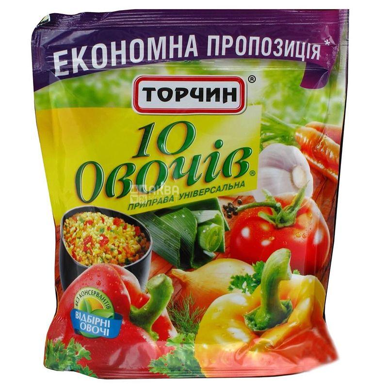 Торчин, 250 г, Приправа, 10 овощей, Универсальная, дой-пак