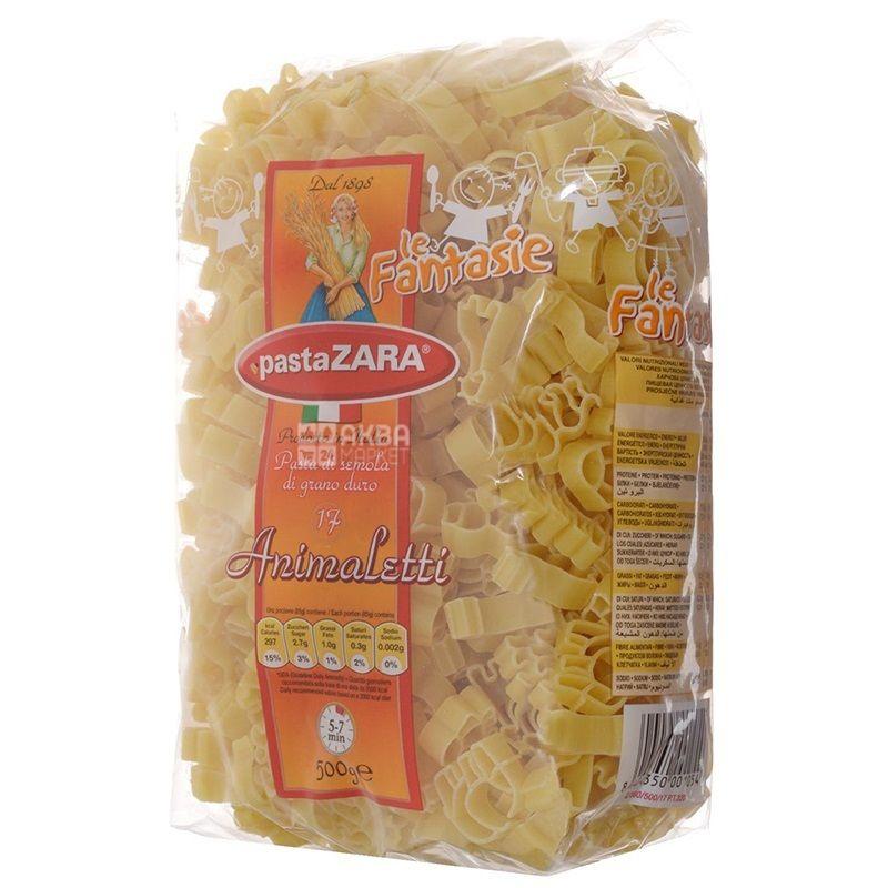 Pasta Zara Animaletti №17, 500 г, Макароны Фигурные Паста Зара Анималетти