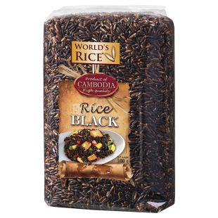 World's Rice, 500 г, Рис, Чорний, м/у