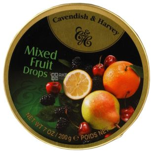 Cavendish & Harvey, 200 g, Lollipops, Fruit platter