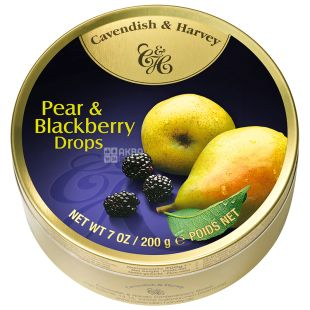 Cavendish & Harvey, 175 g, Lollipops, Pear and Blackberry