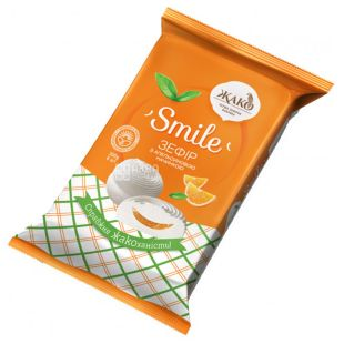 Jaco, 300 g, Marshmallow, Smile, With orange filling