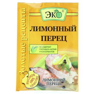 Эко, Золотые рецепты, Перец лимонный, 20 г