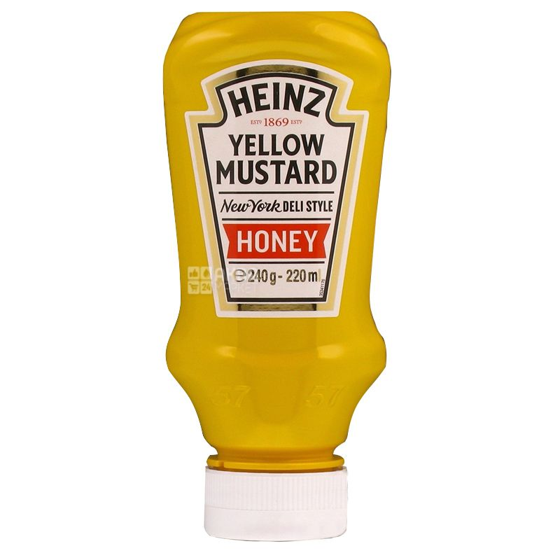 Heinz, 250г, Горчица, С медом, П/б