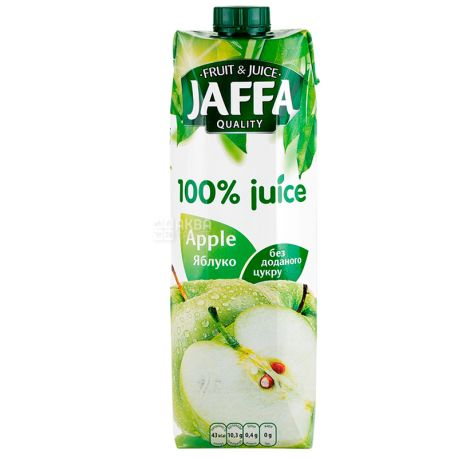 Jaffa, Apple, 0,95 л, Джаффа, Сік яблучний, без додавання цукру