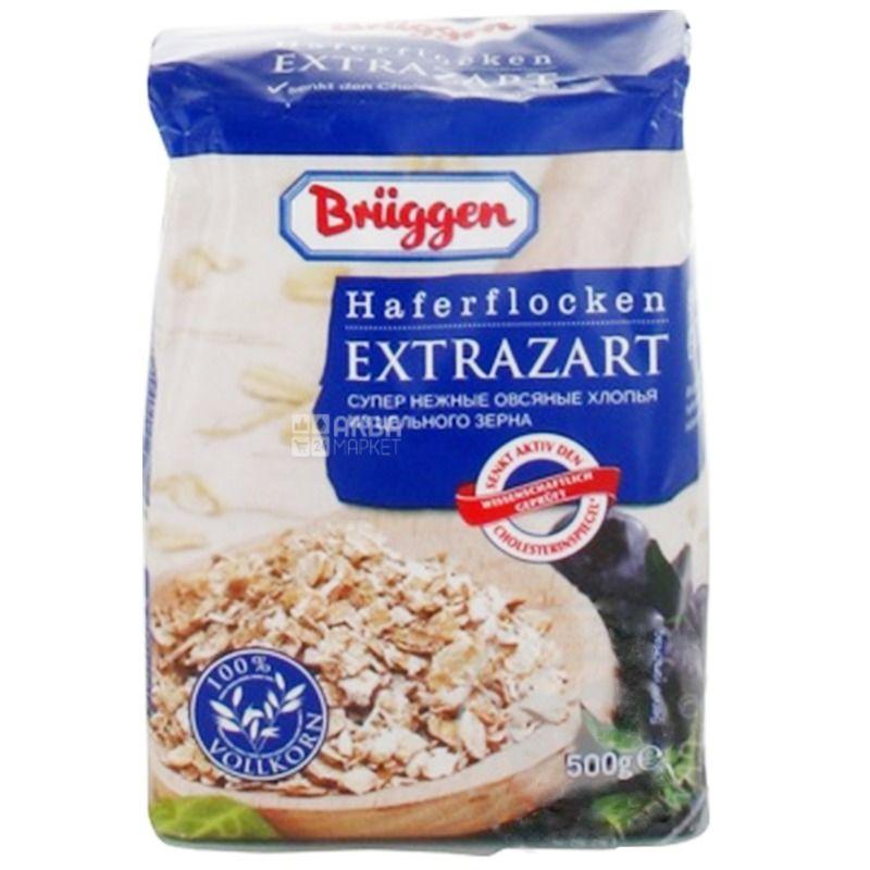 Bruggen, Haferflocken Extrazarte, 500 г, Хлопья Брюгген, Экстра, овсяные, из цельного зерна, супер нежные