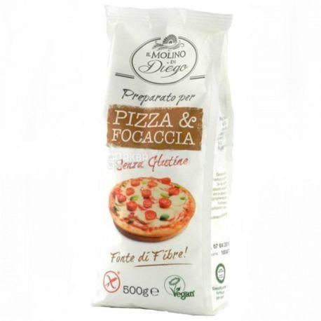 IL Molino, 500 г, Смесь для пиццы и фокачча, Без глютена
