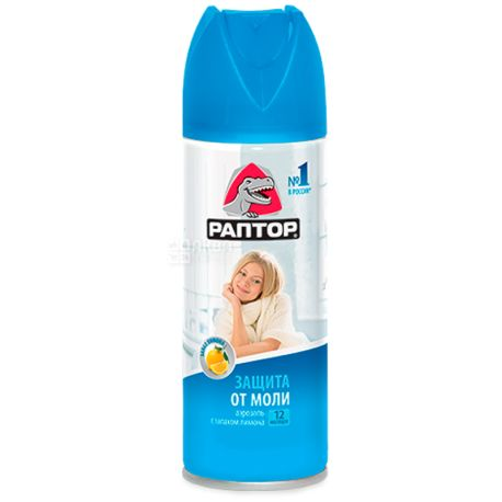 Raptor, 175 ml, moth spray, lemon scent