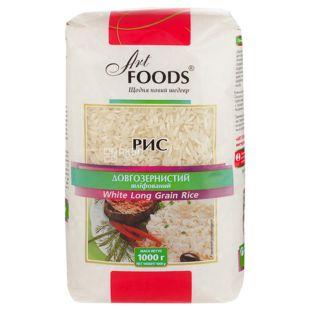 Art Foods, White Long Grain Rice, 1 кг, Рис Арт Фудс, длиннозернистый, шлифованный