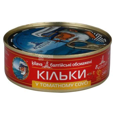 Baltijas, 240 г, Килька, В томатном соусе