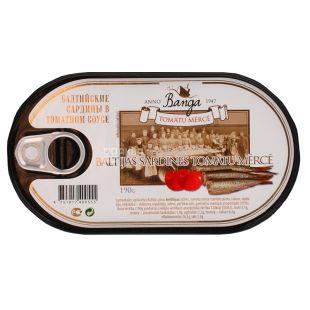 Banga, 190 г, Сардина, Балтійська, В томатному соусі