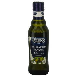 Cirio Олія оливкова нерафінована Extra Virgin Classico, 250 мл, скляна бутилка