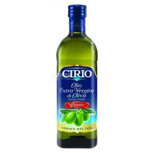 Cirio Масло оливковое нерафинированное Extra Virgin Classico, 1000 мл, стеклянная бутылка