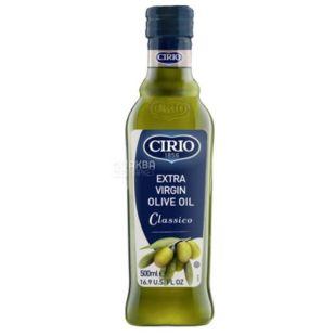 Cirio Масло оливковое нерафинированное Extra Virgin Classico, 500 мл, стеклянная бутылка