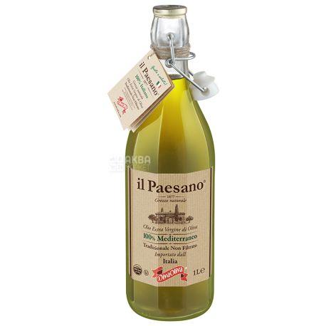 Il Paesano Масло оливковое Extra Vergine нефильтрованное, 1 л, стеклянная бутылка