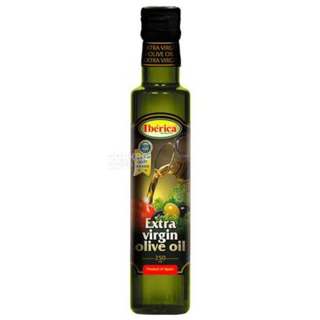 Iberica Масло оливковое нерафинированное Extra Vergine, 250 мл, стеклянная бутылка