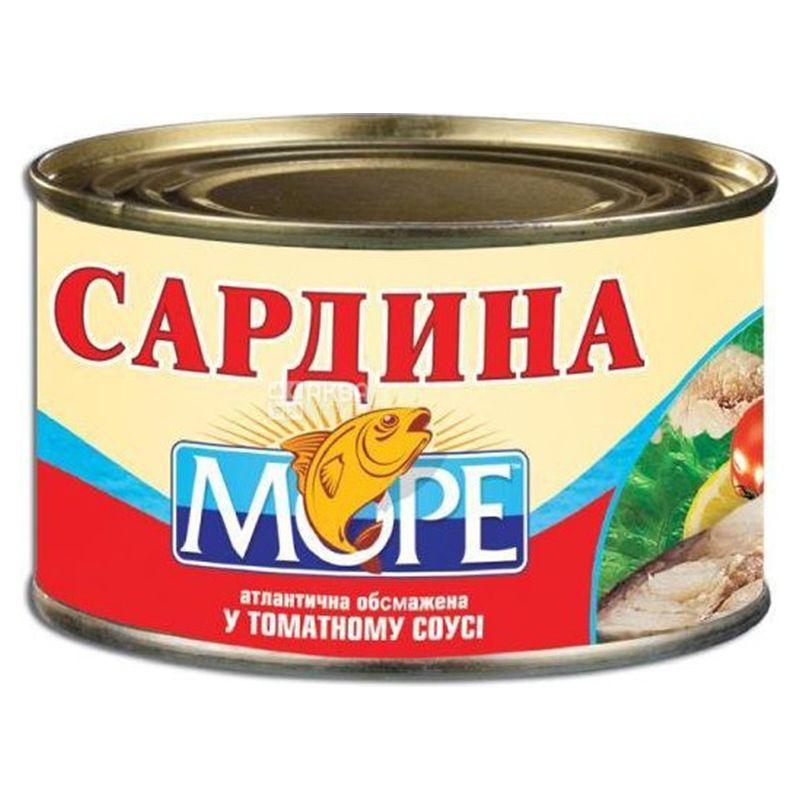 Море, 230 г, Сардина, Обжаренная, В томатном соусе, ж/б