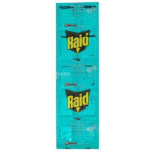 Raid, 10 шт., Пластини від комарів, Евкаліпт