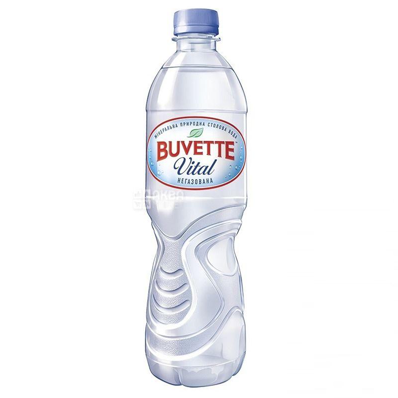 Buvette Vital, 0,5 л, Упаковка 9 шт., Бювет Вітал, Вода мінеральна негазована, ПЕТ