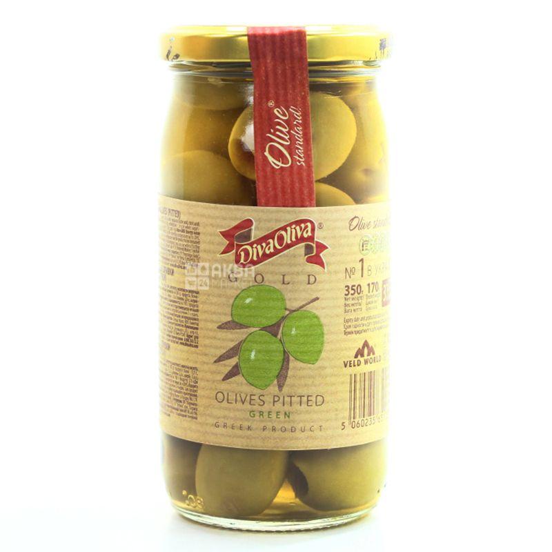 Diva Oliva, 370 ml, Olives, Gold, Green, Stoneless