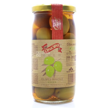 Diva Oliva, 370 ml, Olives, Gold, Green, With a stone